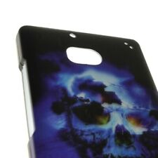 Hard Cover Protector Case for Nokia Lumia Icon 929 - Blue Skull