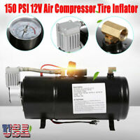 150 PSI 12V Air Compressor with 3L Air Tank Pump For Air Horn BAGS Vehicle