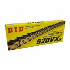 DID 520 VX3 GOLD/BLACK MOTORCYCLE CHAIN with clip link 120 links