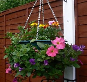 "4 x 15"" Easy Fill Hanging Baskets(GREEN) hanging basket"