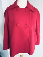 Phase Eight Pink Coat 3/4 Sleeves Double Breasted Dolly Jacket Pockets Size 16