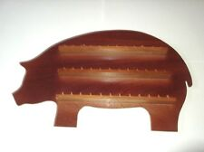 36pc Pig Wooden Thimble Display Rack ( Mahogany )( huge range - see list )