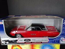 Anson 1963 Ford Thunderbird Red Hardtop 1:18 Scale Diecast Metal Model Car NIB