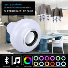 B22 LED Bluetooth Wireless Globe Light Bulb 12w Music Speaker Remote Control AU