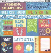 Moxxie - Waterpark Cutouts Scrapbooking Paper 12x12