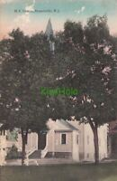 Postcard ME Church Branchville NJ 1908