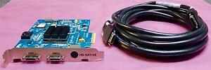 Avid Pro Tools HD Native PCIe Card Used with 12' mini digilink cable