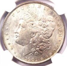 "1901 Morgan Silver Dollar $1 - NGC AU55 - Near UNC/MS - Rare Date ""1901-P"" Coin!"