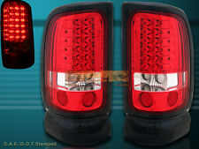 94-01 DODGE RAM 1500 2500 3500 PICKUP TAIL LIGHTS L.E.D RED PAIR 95 96 98 99 00