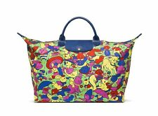 LONGCHAMP X LE PLIAGE JEREMY SCOTT HUMPTY DUMPTY DOLLY PATTERN TOTE BAG NEW RARE