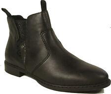 RIEKER Schuhe Stiefeletten Chelsea Boots Reißverschluss echt Leder NEU
