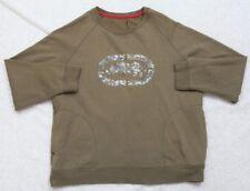 Ecko Unltd Green Long Sleeve XL Cotton Solid Crewneck Graphic Sweatshirt X-Large