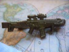 T013 Antique Bronze Machine Gun Tie Clips Clasps Tacks Vintage Military Rare *30