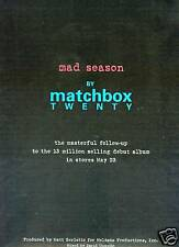MATCHBOX TWENTY Promo Poster Ad from MAD SEASON mint!