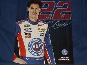 2014 JOEY LOGANO #22 AAA SOUTHERN CALIFORNIA NASCAR POSTCARD