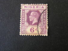 NIGERIA, SCOTT # 28, 6p. VALUE DULL VIOLET KGV 1921-33 DIE II ISSUE USED