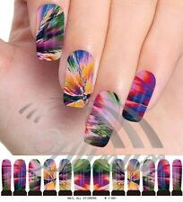 Paint Ink Color Water Transfer Nail Art WRAPS STICKERS Polish DIY Decals F6