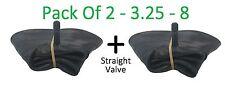2 x 3.25 / 3.00 - 8 INNERTUBE & STRAIGHT VALVE / WHEELBARROW / WHEEL  INNER TUBE