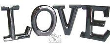 SPLOSH BLACK UPPER CASE WORD  'LOVE' 9CM TALL HOME DECO SINGLE LETTERS IN BOX