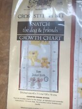 Growth Chart Toys featuring Snatch the Dog Counted Cross Stitch Kit