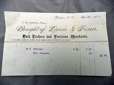 Letterhead Advertising Davis & Fraser Pork Packers Bill of Sale Halifax NS 1907