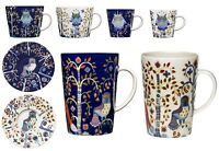 Iittala Taika Blue or White Porcelain Mugs, Espresso or Cappuccino Coffee Cups