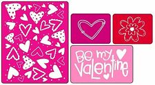 Sizzix Textured Impressions Embossing Folders - Valentine's, Wedding Love Hearts