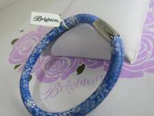 BRIGHTON WOODSTOCK snowflakes  bracelet  blue/white   med/large  approx 7.75-8.5