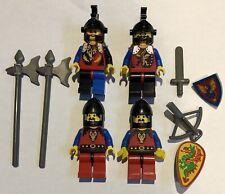 4 X Vintage Lego Dragon Knights Minifigures Figs Shield Weapons Helmet Lot 2