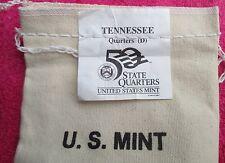 """2002, TENNESSEE, 25.00 Bag of Quarters, MINT MARK, """"D"""" DENVER."""