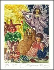 Kirnitskiy Sergey 2000 Exlibris C4 Kids Toys Dog Hund Parrot 17