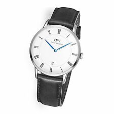 New Daniel Wellington Dapper Sheffield 38mm 1121DW Black Leather Watch