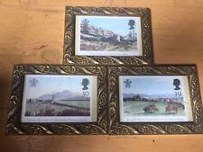landscape print pictures. Trio. Vintage. Postcard Style.