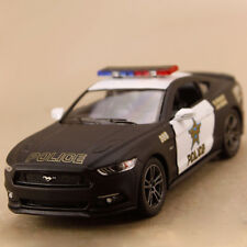 2015 Model Car Ford Mustang GT Police Matte Black 1:38 12.5cm DieCast Pull Back