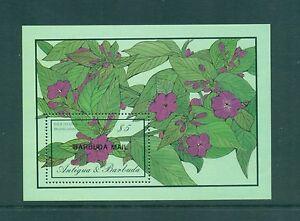 Barbuda 1986 Flowers Four O'Clock Flower Minisheet  SG MS908b MNH
