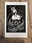 Kitten and Skull 2008 by HUSH Jeremy Clark - OOP Rare Screen Print Art Baizley