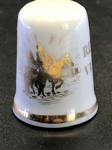 Vintage Porcelain Thimble - RDO DE LA VENTA DEL QUIJOTE