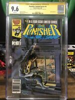 Punisher 4 Cgc 9.6 Limited Series Newsstand 2x Signed John Beatty Michael Zeck