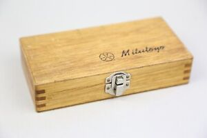 VINTAGE MITUTOYO MICROMETER 123-125A DOVETAILED WOODEN TOOL BOX ONLY JAPAN
