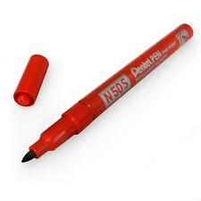 Pentel N50S Fine Permanent Marker – 3.18mm Bullet Tip – Single – Red