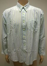 (Used) Mens Nautica Long Sleeve Button Front Casual Shirt Size: XL Blue Green