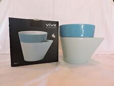 Villeroy & Boch Vivo Herb and Flowerpot, Planty Blue, Nib