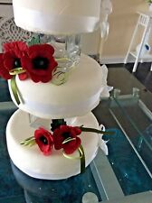 SET 2 CAKE DECORATION ANENOMIES /POPPIES IN DARK RED, ALSO IN MORE , COLOURS