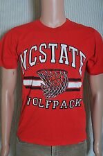 Vintage '80s Nc State Wolfpack basketball soft red broken in t shirt S