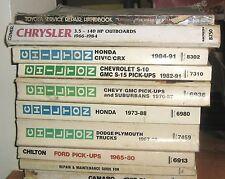 Chilton 8302, Honda Civic/CRX, 1984-1991