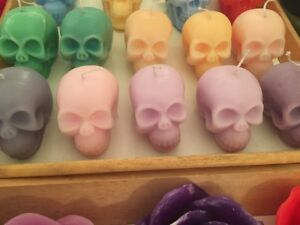 One Handmade Custom Skull Scented Candle (Available In Many Colours)