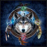 Celtic Wolf Guide - Chart Counted Cross Stitch Pattern Needlework Xstitch Craft