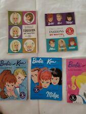 5 Vntg Barbie Midge Ken Skipper Allan Scooter Tutti Francie Casey Booklet Mattel