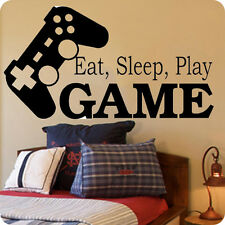 Eat Sleep Play Game-on Sale Boys Room Vinyl Wall Decal Playstation Decal