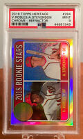 2018 Topps Heritage Chrome Refractor Robles & Stevenson Rookie RC #'d /569 PSA 9